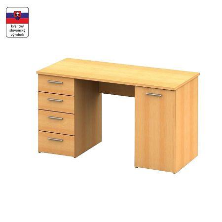 TEMPO KONDELA Písací stôl, buk, EUSTACH