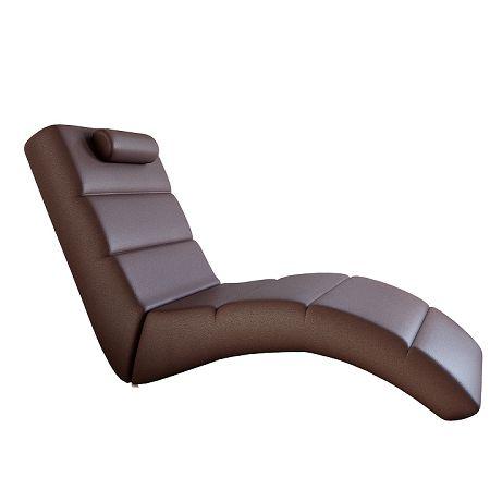 TEMPO KONDELA Relaxačné kreslo, hnedá ekokoža, LONG