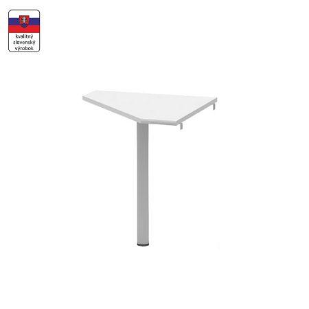 TEMPO KONDELA Rohový stolík, biela/kov, JOHAN NEW 06
