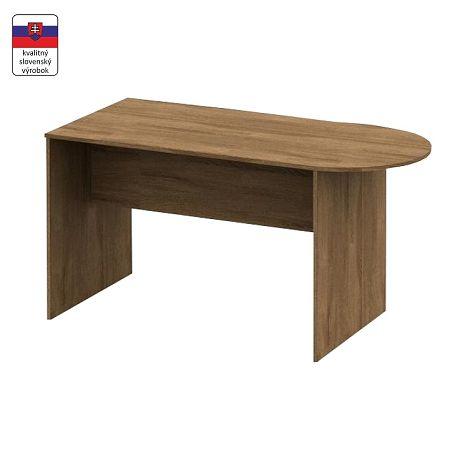 TEMPO KONDELA Zasadací stôl s oblúkom 150, bardolino tmavé, TEMPO ASISTENT NEW 022